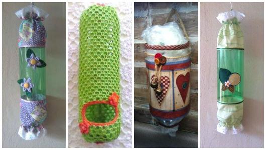 Adesivo De Parede Personalizado Sp ~ Artesanato com garrafa PET 76 ideias incríveis e tutoriais!