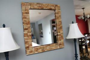 artesanato com rolhas moldura de espelho