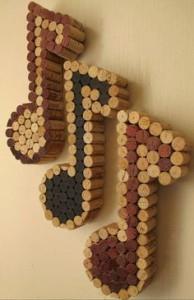 artesanato com rolhas para usar em parede