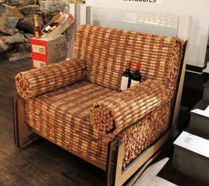 artesanato com rolhas sofá