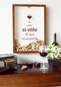 artesanato com rolhas quadro para rolha de vinho