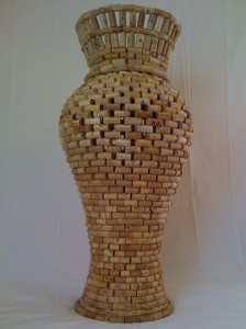 artesanato com rolhas vaso para decorar