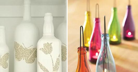 artesanato em garrafa de vidro cada do post