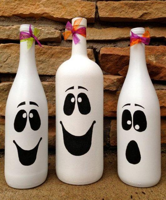 artesanato em garrafa de vidro fantasma