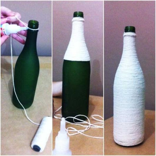 artesanato em garrafa de vidro passo a passo