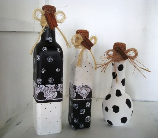 Ideias de artesanato com garrafa de vidro