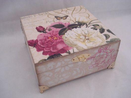 decoração caixa floral