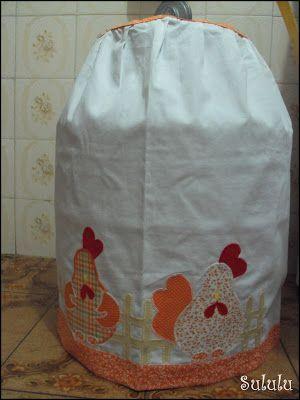 capa botijão galinha