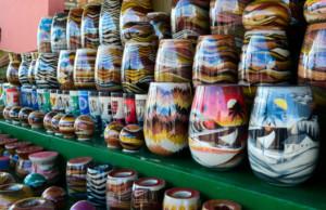 artesanato nordestino garrafas de areia