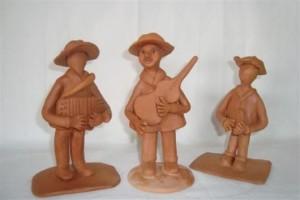 artesanato nordestino sanfoneiros de argila