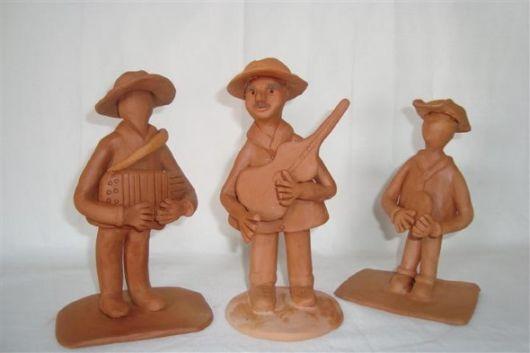 Adesivo De Parede Revestimento ~ artesanato nordestino com argila bonecos Doce Obra
