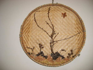 artesanato nordestino peneira de palha para parede