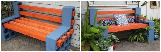 bancos de jardim blocos de cimento