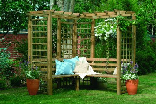 bancos de jardim com almofada
