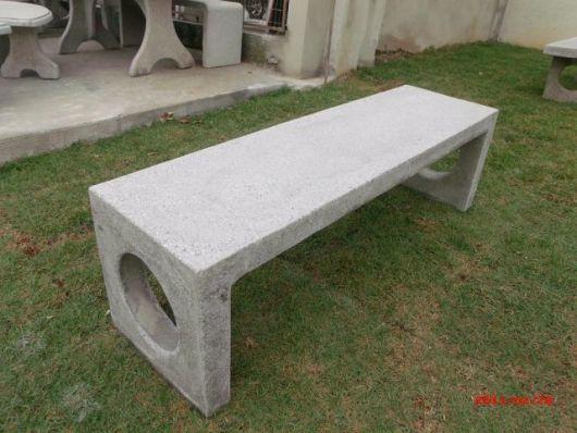 bancos de jardim com cimento