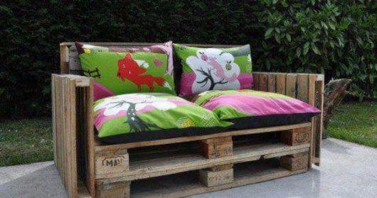 bancos de jardim com pallets original