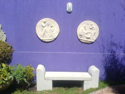 bancos de jardim feito de cimento