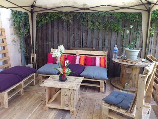 bancos de jardim móveis de pallets
