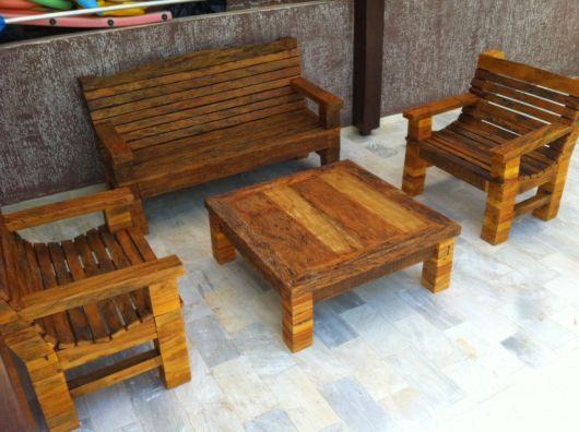 bancos de jardim madeira de demolição