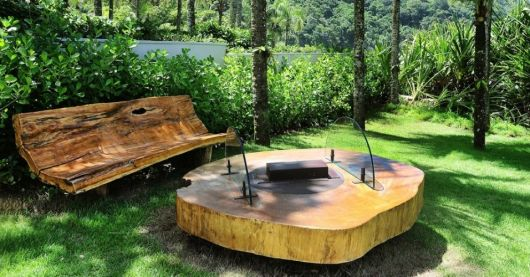 banco de jardim rustico : banco de jardim rustico:Bancos de jardim: 54 modelos e dicas para escolher