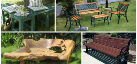 bancos de jardim vários tipos