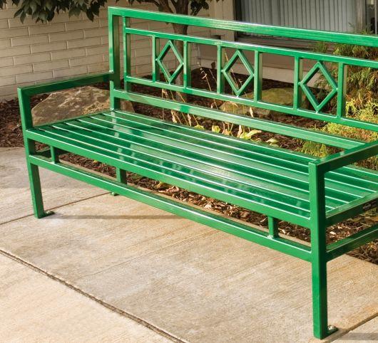 bancos de jardim verde