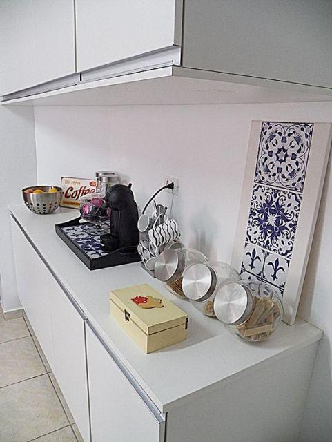 decoração bancada cozinha
