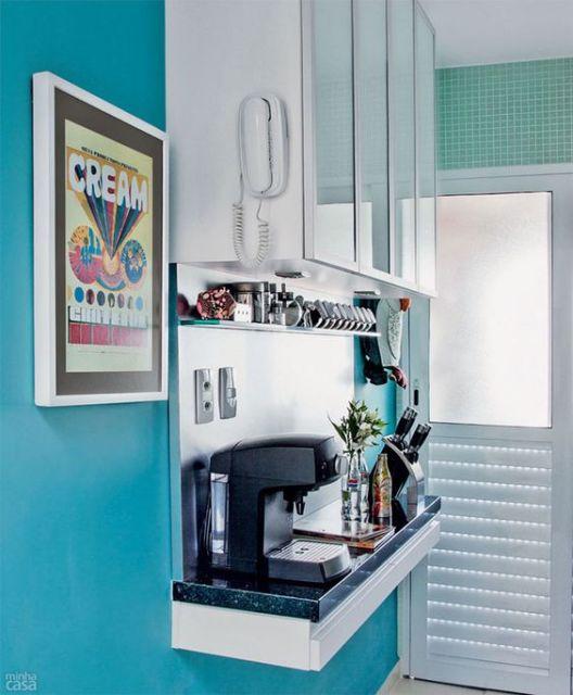 parede azul decoração