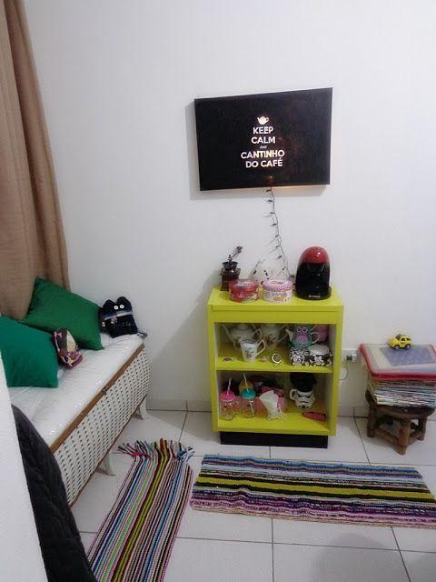 decoração simples espaço café