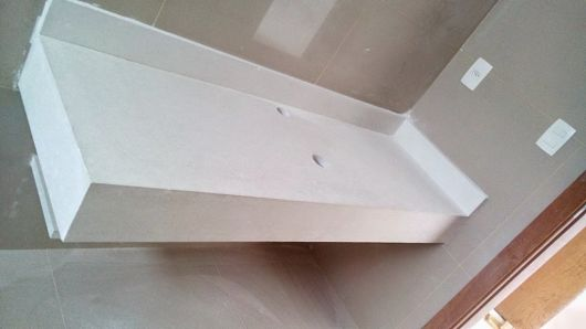 Cimento Queimado Branco Passo a passo e 30 fotos -> Como Fazer Pia De Banheiro Com Cimento Queimado