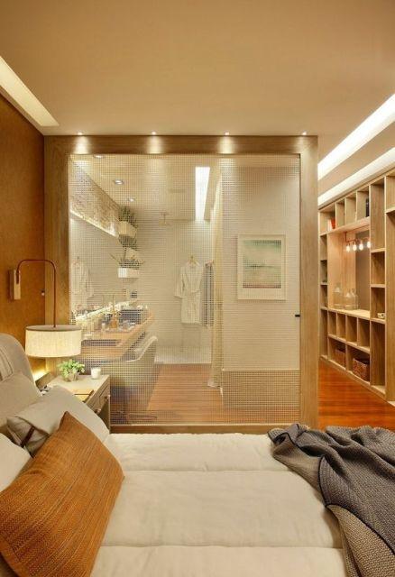 Closet com Banheiro Como planejar e 40 fotos inspiradoras -> Planta Baixa De Banheiro Com Banheira E Closet