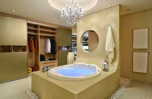 closet com banheiro - banheira