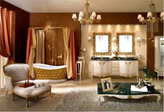 closet com banheiro com banheira provençal
