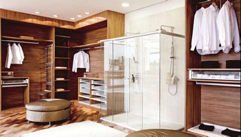 closet com banheiro duplo chuveiro