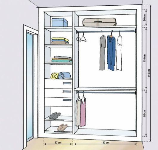 Closet com banheiro como planejar e 40 fotos inspiradoras for Modelos de closets para dormitorios pequenos
