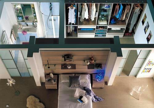 closet com banheiro como planejar e 40 fotos inspiradoras. Black Bedroom Furniture Sets. Home Design Ideas