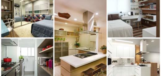 quarto e cozinha