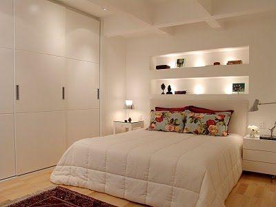 decoração com nichos quarto