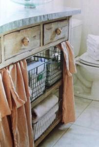 cortina de pia para banheiro