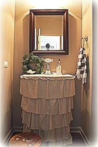 cortina de pia para lavabo