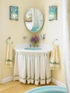 cortina de pia modelos para banheiro