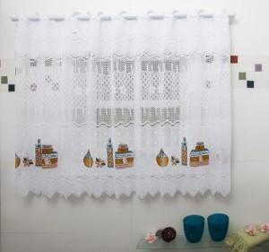 cortina para janela de banheiro de renda