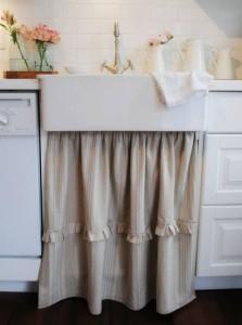 decorar cozinha com cortina para pia