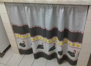 cortina de pia estampa galinha