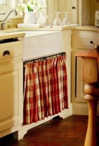 cortina de pia estampa zadrez