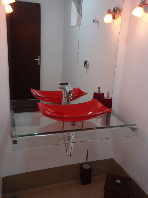 Cuba de vidro modelos, onde comprar e preço! -> Decoracao De Banheiro Com Cuba Vermelha