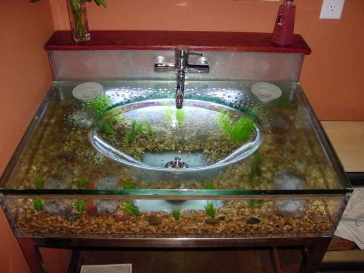 cuba com aquário