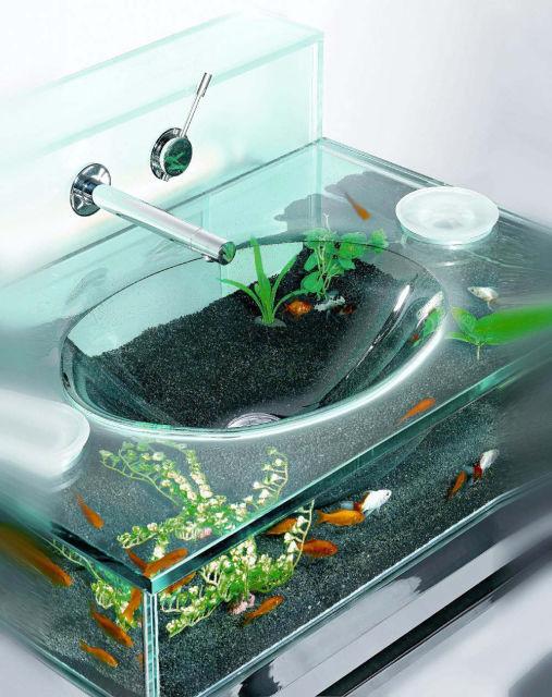 banheiro aquário