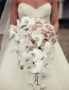 buquê de noiva com orquídea
