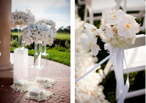 decoração com orquídea em casamentos de dia